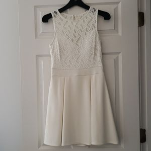 B Darlin white fit and flare dress